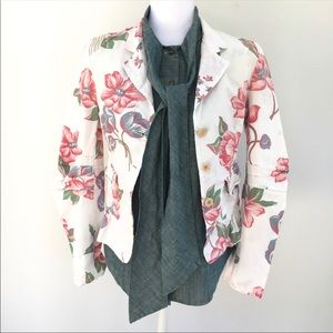 Marithe + Francois Girbaud jacket floral blazer S